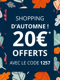 shopping d'automne 20euros offerts*