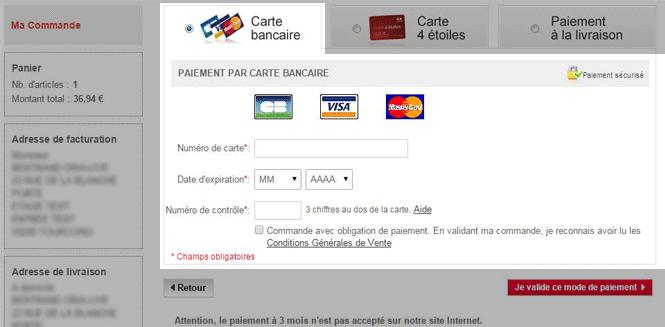 Carte Bleue Web.Services Commandes